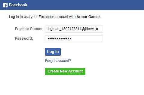 Facebook Connect – Armor Games